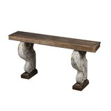 Wesley Classic Vintage 79.9 Solid Wood Console Table by Rosalind Wheeler