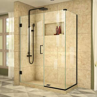 Unidoor Plus 52 x 72 Hinged Frameless Shower Door with Clear Max Technology by DreamLine
