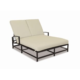 Sunset West La Jolla Double Chaise Lounge with Cushion