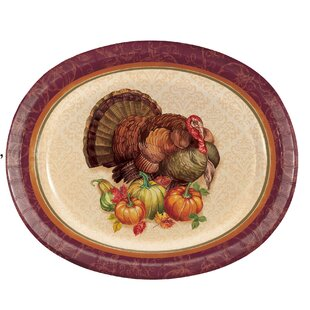 Arya Turkey Paper Dinner Plate (Set of 24)