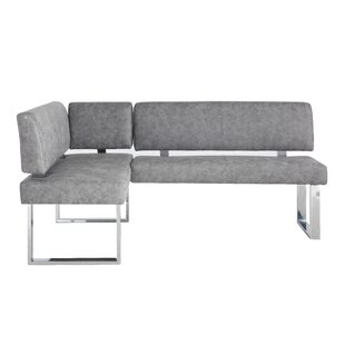 Cassian Faux Leather Corner Bench