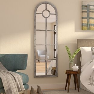 Mistana Clifton Ellar Arched Window Pane Mirror