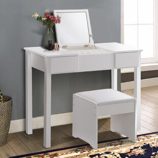 Latitude Run Geoghegan Vanity Set with Mirror