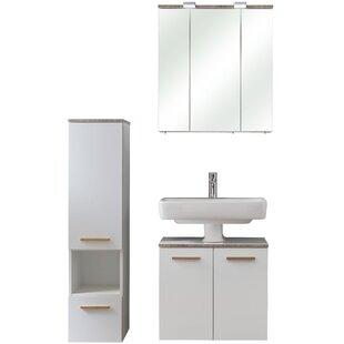 Burgas 3 Piece Bathroom Storage Furniture Set By Quickset