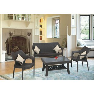 Whitaker Commercial Grade Loveseat by Bungalow Rose