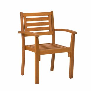 Hazeltine Eucalyptus Stacking Patio Dining Chair (Set of 2)