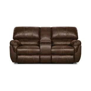 Loon Peak Bosquet Motion Console Reclining Sofa by Simmons Upholstery