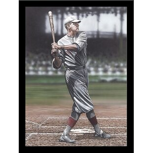 'Babe Ruth as a Red Sox' Framed Graphic Art Print By Buy Art For Less