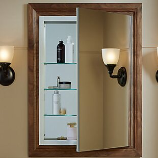 Verdera Aluminun Medicine Cabinet with adjustable Flip Out Flat Mirror, 24 W x 30 H by Kohler
