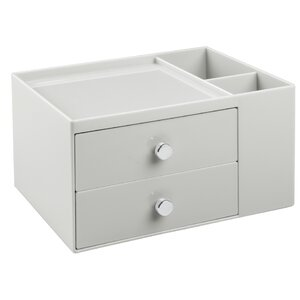 Amalia 2 Drawer Small Parts Cosmetic Organizer