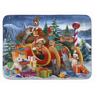 Shop For Animals Opening Christmas Presents Memory Foam Bath Rug By East Urban Home
