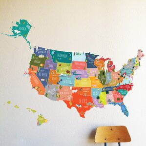 Travel Wall Decals Youll Love Wayfair - Us road map wall decals