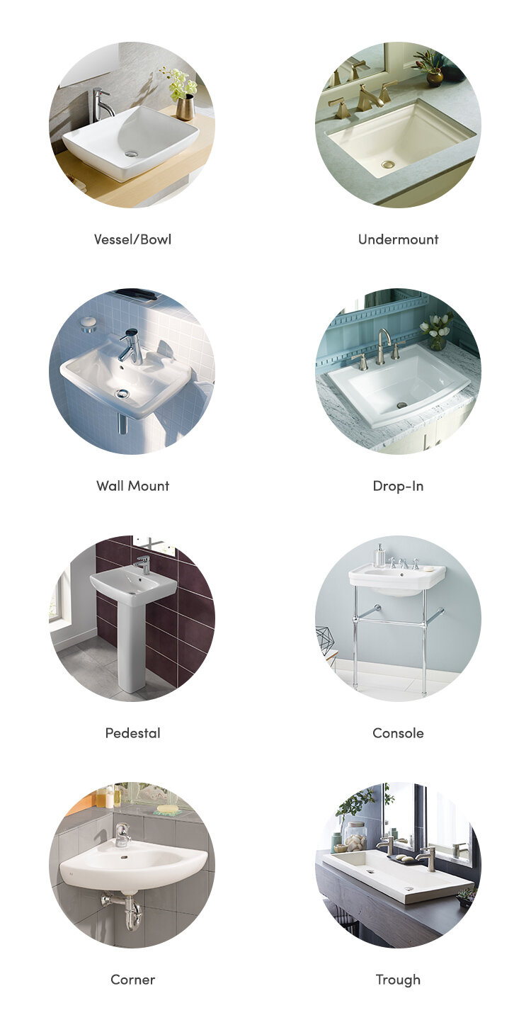 Types Of Bathroom Sinks Wayfair