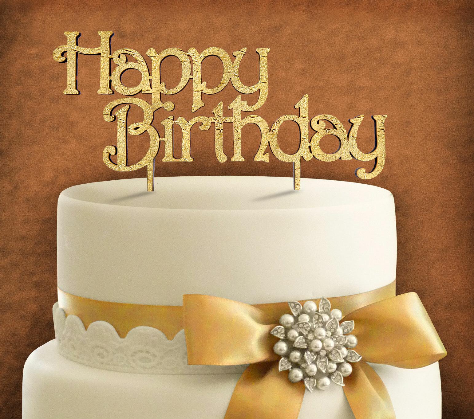 Remarkable Amonogramartunlimited Happy Birthday Cake Topper Wayfair Funny Birthday Cards Online Fluifree Goldxyz