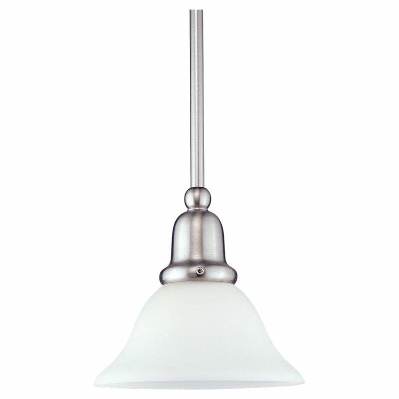 Charlton Home Harrisburg 1 Light Single Cone Bell Pendant Wayfair