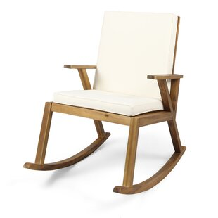 Gracie Oaks Larracey Outdoor Rocking Chair with Cushions