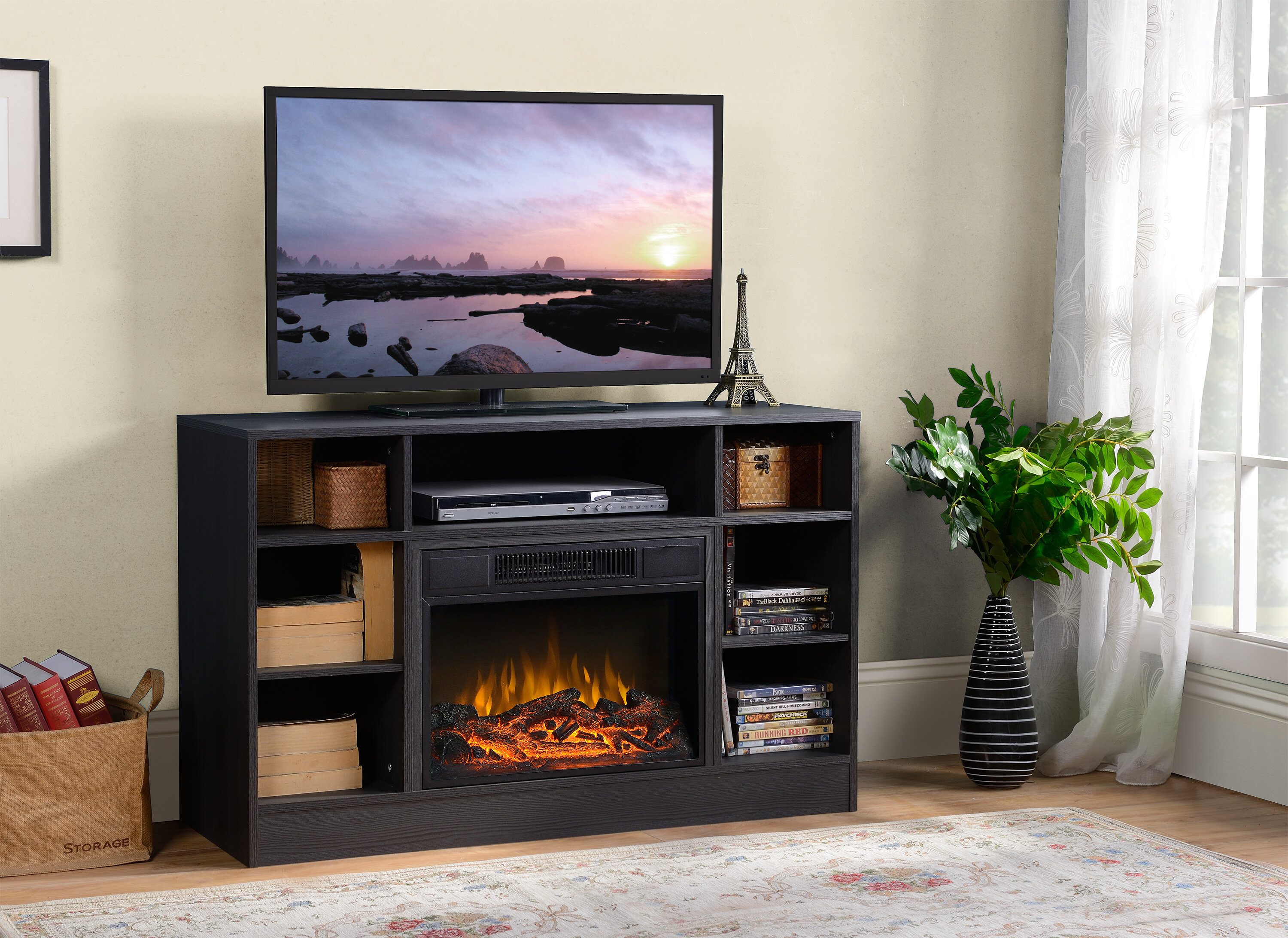 walmart com fireplace grey langley media ip in flamelux up to tvs for electric