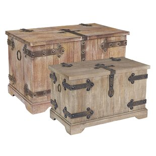 Victorian 2 Piece Storage Trunk Set