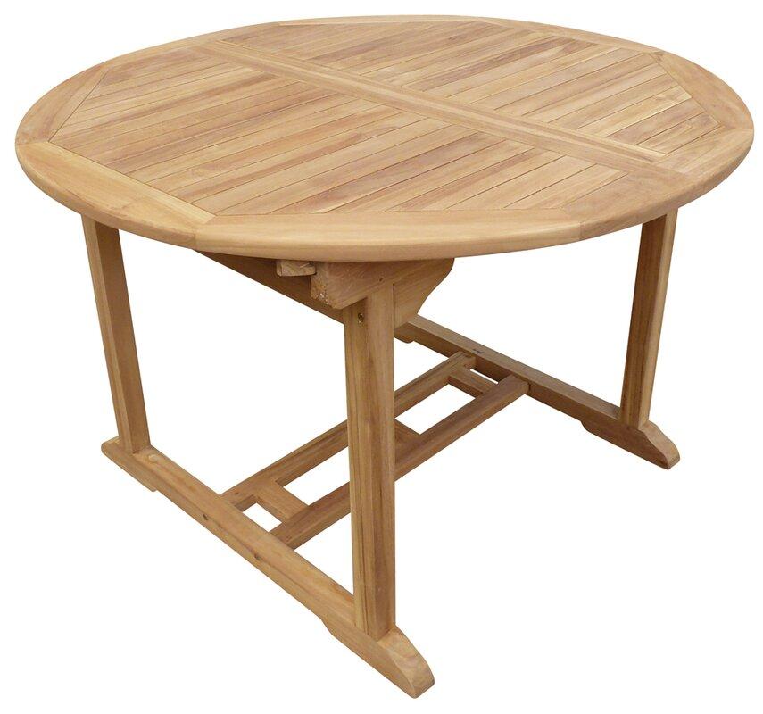 Teak Kitchen Table Highland dunes cosper round extendable teak dining table reviews cosper round extendable teak dining table workwithnaturefo