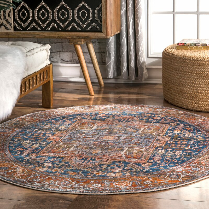World Menagerie Artemas Oriental Rust Area Rug Amp Reviews
