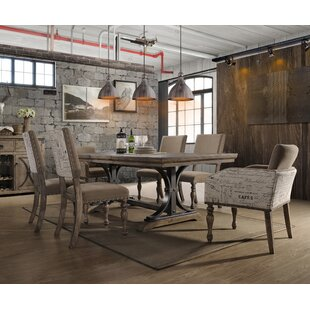 One Allium Way Dasher 7-Piece Butterfly Leaf Table with Nail Head Arm Chairs Dining Set