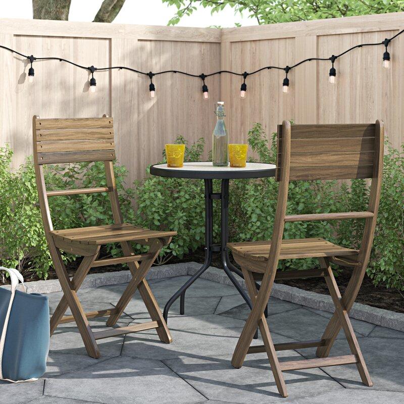 Zipcode Design™ Carthage Folding Patio Dining Chair & Reviews   Wayfair