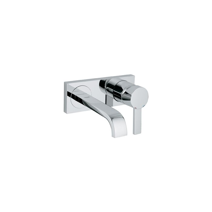 widespread sink wall faucet mount bathroom contemporary features