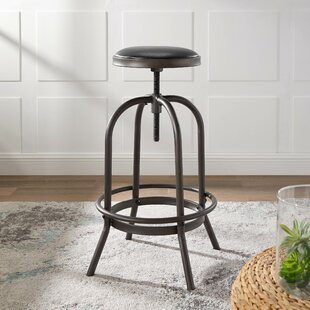 Halsted Adjustable Height Swivel Bar Stool (Set of 2) by Williston Forge
