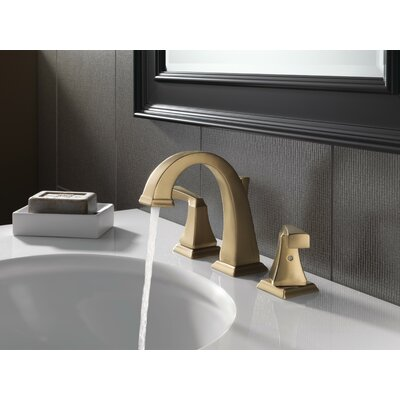 Dryden Widespread Bathroom Faucet With Drain Assembly And Diamond Seal Technology Delta Finish Brilliance Champagne Bronze