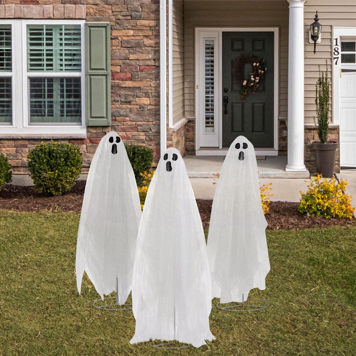 The Holiday Aisle Ghost Trio Lawn Art Reviews Wayfair