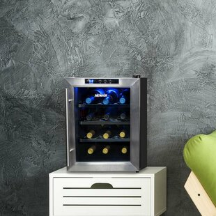 12 Bottle Single Zone Freestanding Wine Cooler