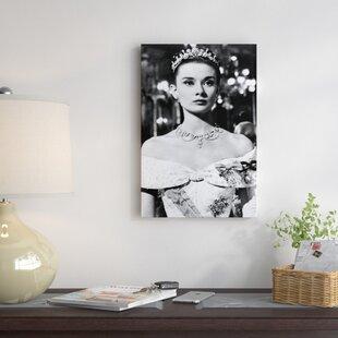 65fb8bd936 Radio Days  Audrey Hepburn As Princess Ann in Roman Holiday  Photographic  Print on Canvas
