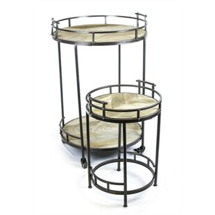 Pennebaker Functionally Metal 2 Piece Nesting Tables by Union Rustic