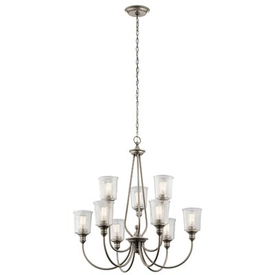Marseilles 9 Light Shaded Chandelier August Grove Color Classic Pewter
