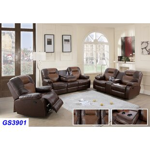 Rueter 3 Piece Reclining Living Room Set ..