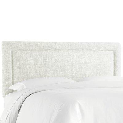 Cansler Border Upholstered Panel Headboard Size: California King, Upholstery: Off-White by Brayden Studio