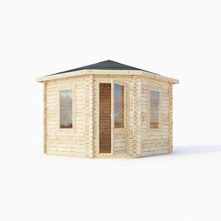 Corner 10 X 10 Ft. Tongue & Groove Log Cabin Image
