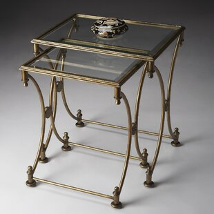 Chrystal 2 Piece Nesting Tables by Fleur De Lis Living