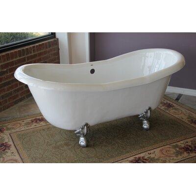 "Restoria Bathtub Company Duchess 68"" x 30"" Freestanding Soaking Bathtub Colour: Brushed Nickel"