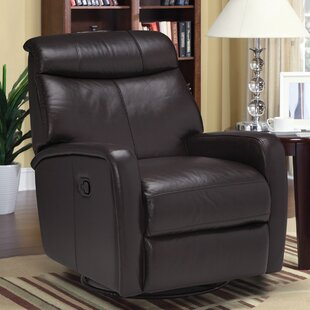 Mcmath Leather Manual Swivel Recliner