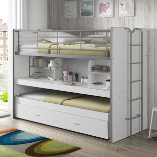 Dewitt European Single High Sleeper Bed With Trundle And Desk By Isabelle & Max