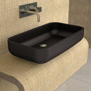 Comparison Vetro Freddo Glass Rectangular Vessel Bathroom Sink ByMaestro Bath