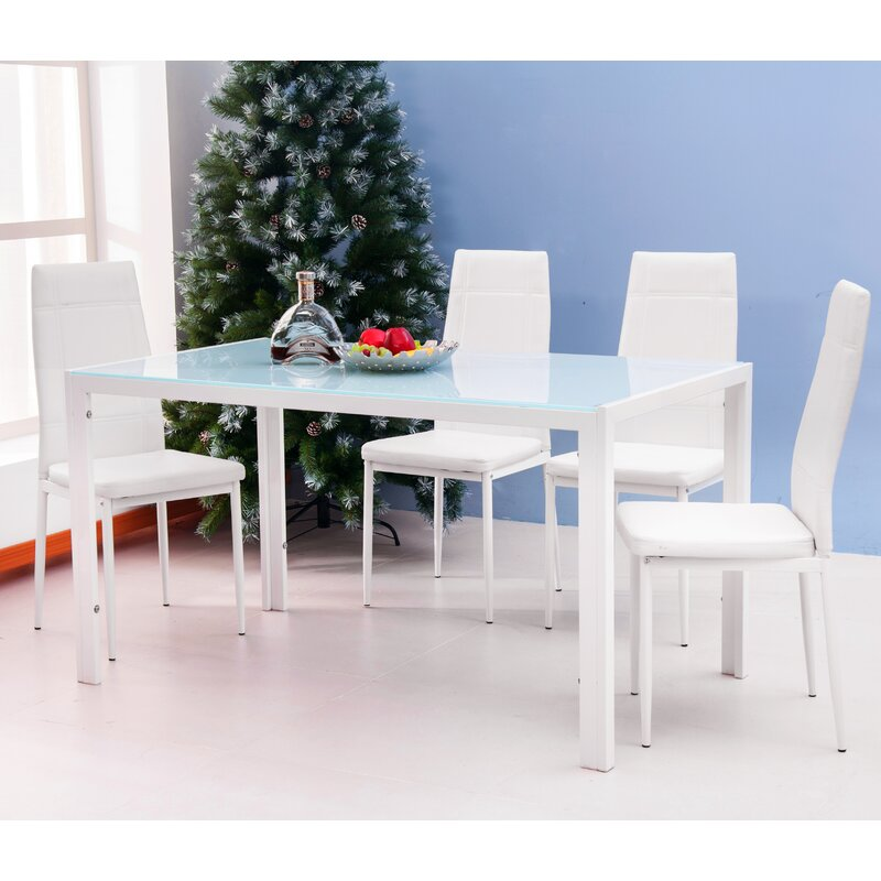 Wondrous Dimattia 5 Piece Dining Set Caraccident5 Cool Chair Designs And Ideas Caraccident5Info