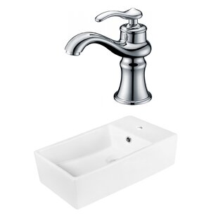 Looking for Above Counter Ceramic Rectangular Vessel Bathroom Sink with Faucet ByRoyal Purple Bath Kitchen