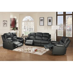 Winston Porter Faucette Reclining 3 Piece Living Room Set