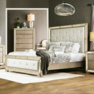 Shakira Glam Upholstered Platform Bed