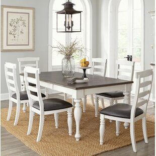 Arlene 7 Piece Extendable Solid Wood Dining Set August Grove