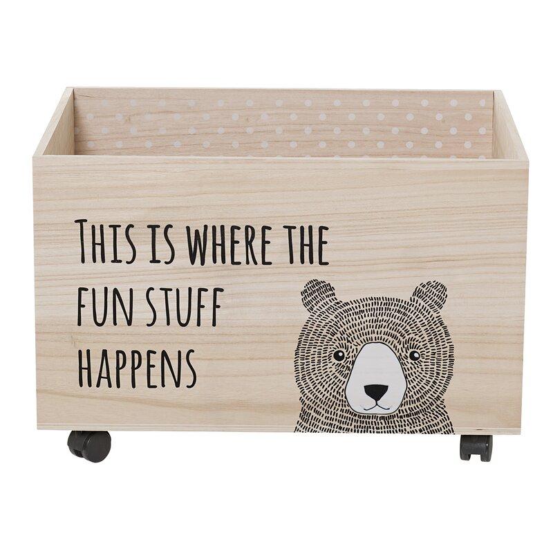 Kaytlynn Toy Box With Wheels