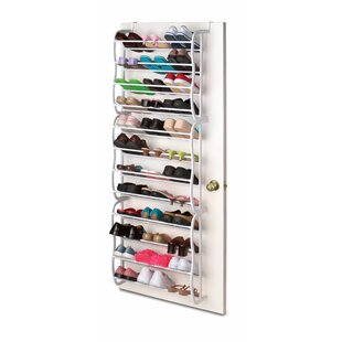 12-Tier 36 Pair Overdoor Shoe Organizer  sc 1 st  Wayfair & Over-the-Door Shoe Racks u0026 Hanging Organizers Youu0027ll Love | Wayfair