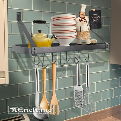 Rack It Up! Steel Wall Mounted Pot Rack